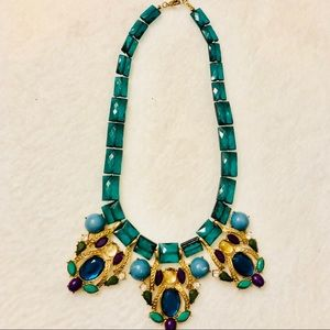 Chunky Bead Gold Tone Statement Necklace